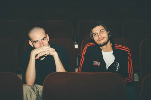 Kurt Walker and Tyson Storozinski at Vancity Theatre, where their debut doc 'Hit 2 Pass' will screen May 9. Photo by Jackie Dives.