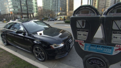 The City of Vancouver is looking to increase the price of parking permits in the West End — and introduce new meters. Photo b CBC.